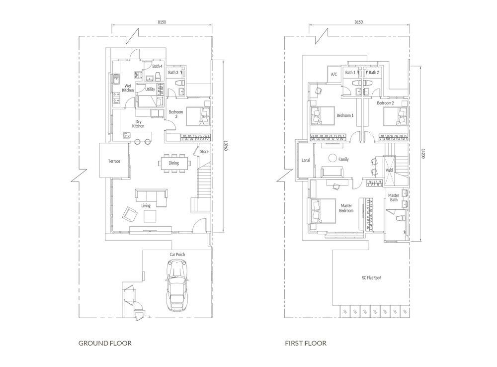Santai Type C & D Floor Plan
