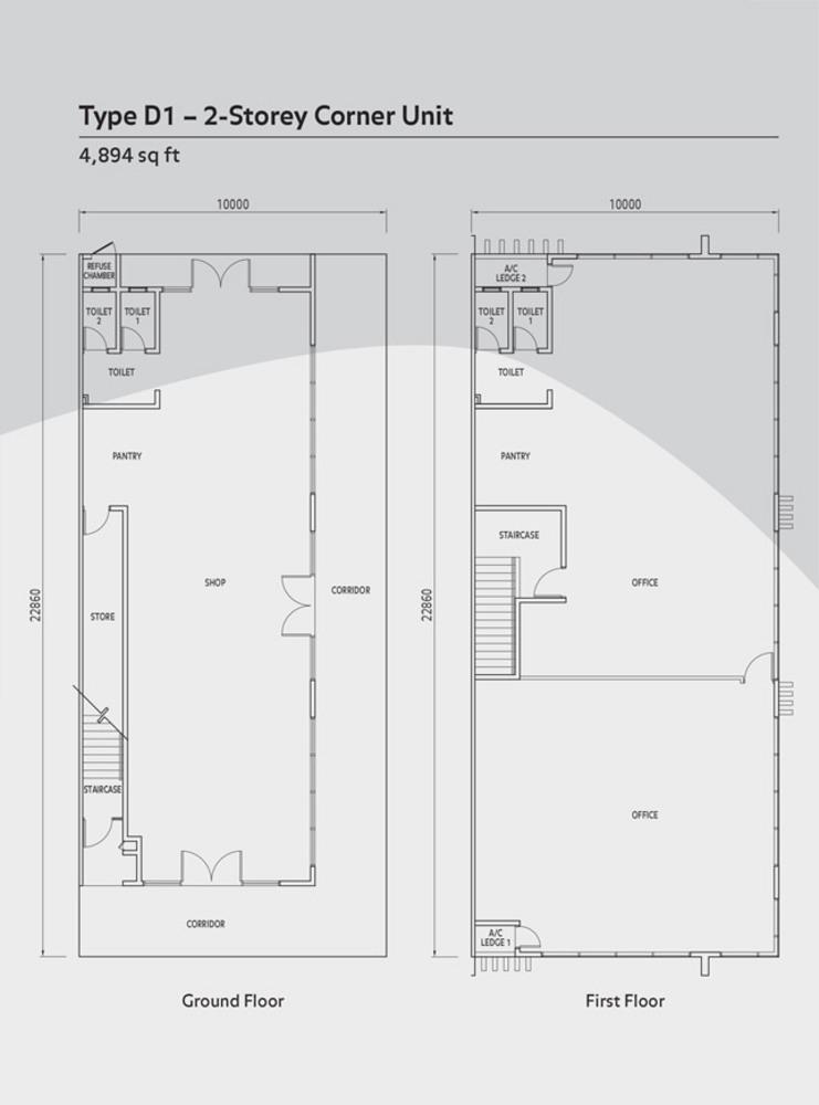 Anika Double Storey Type D1 Floor Plan