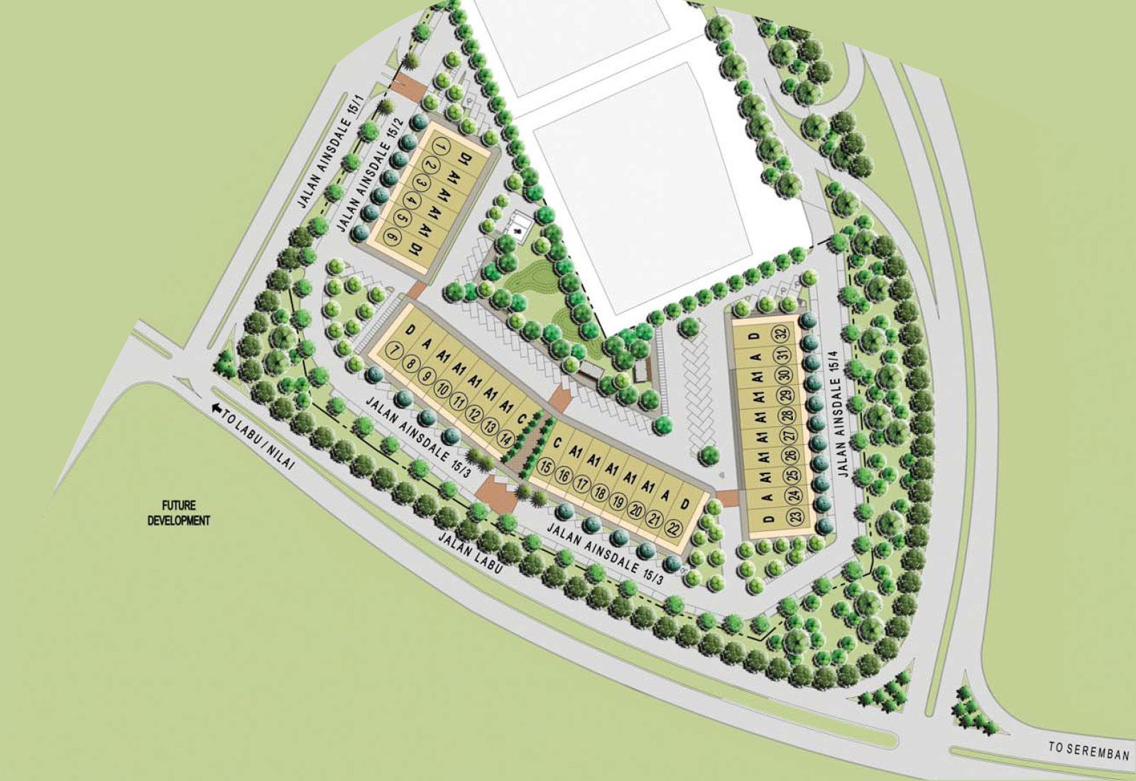 Site Plan of Anika