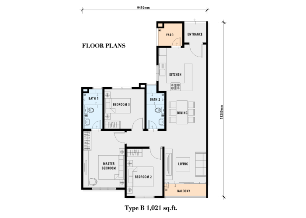 PV18 Residence Type B Floor Plan