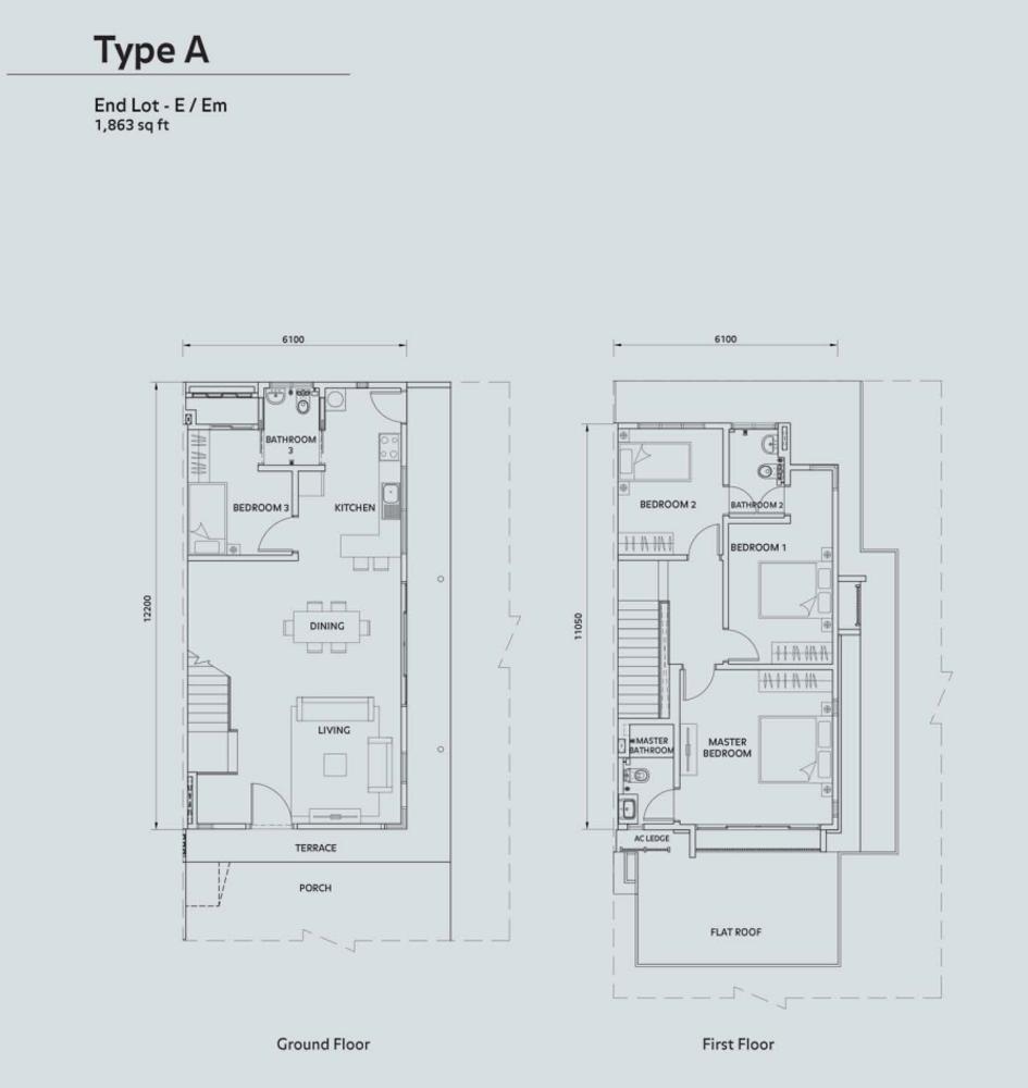 Elmina Valley Elmina Valley 1 Type A - End Lot Floor Plan