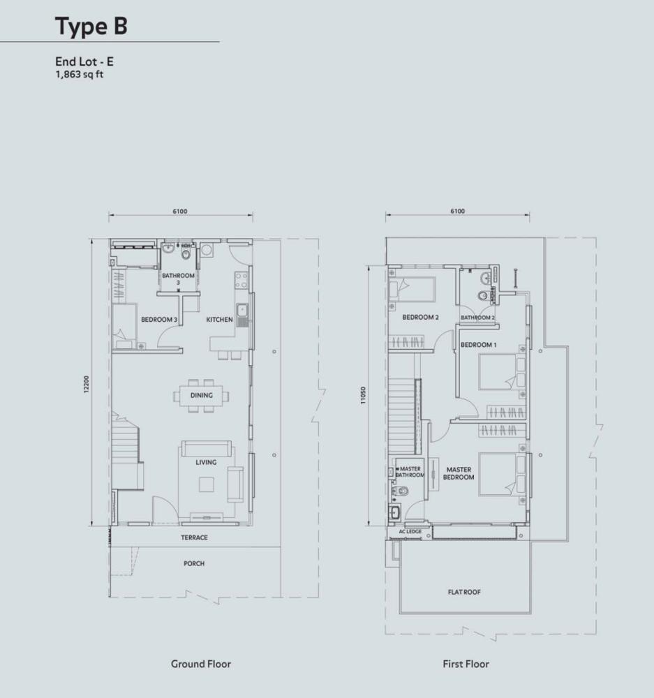 Elmina Valley Elmina Valley 1 Type B - End Lot Floor Plan