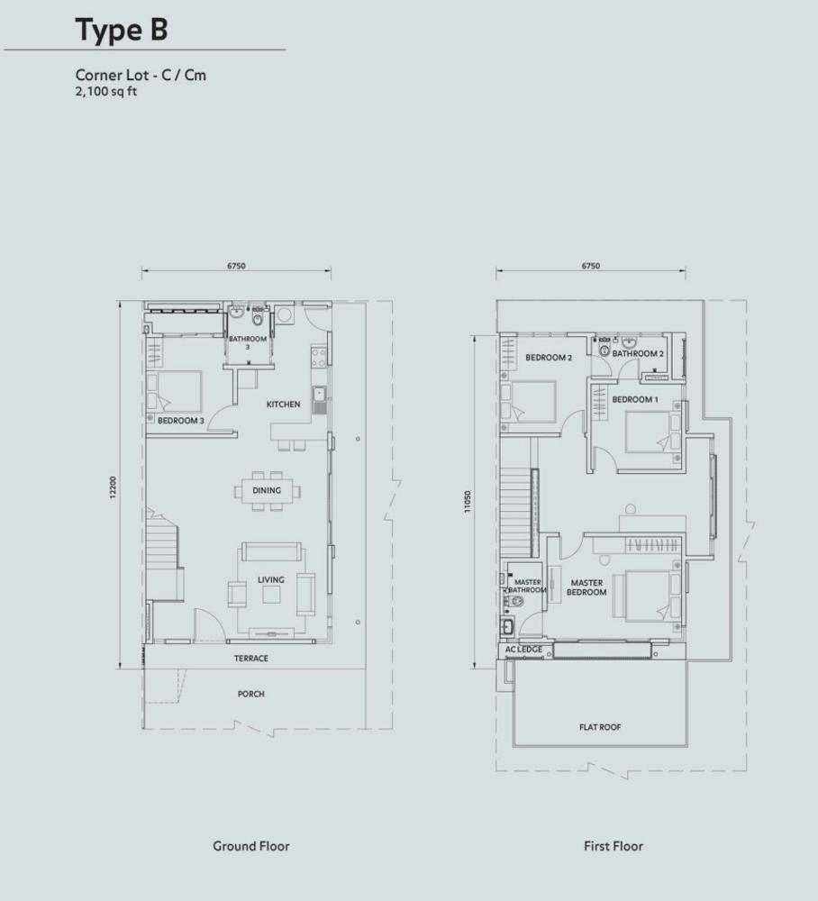 Elmina Valley Elmina Valley 1 Type B - Corner Floor Plan