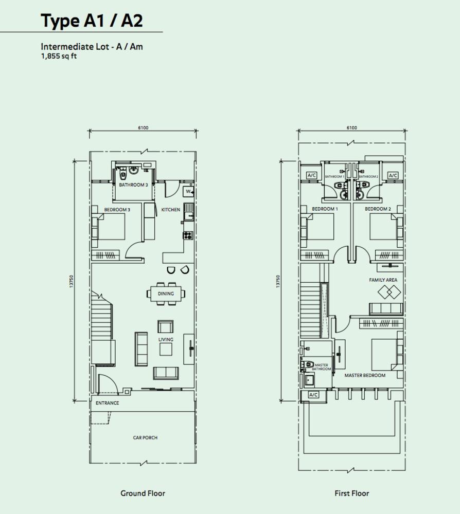 Elmina Valley Elmina Valley 2 Type A1/A2 - Intermediate Floor Plan