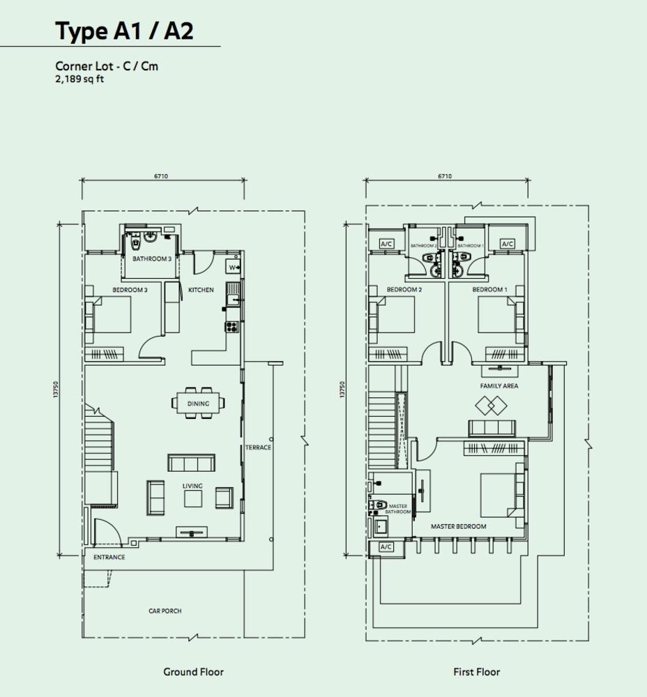 Elmina Valley Elmina Valley 2 Type A1/A2 - Corner Floor Plan