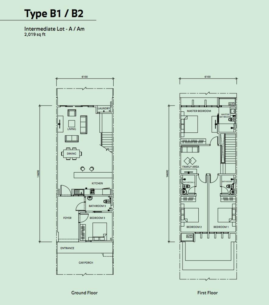 Elmina Valley Elmina Valley 2 Type B1/B2 - Intermediate Floor Plan