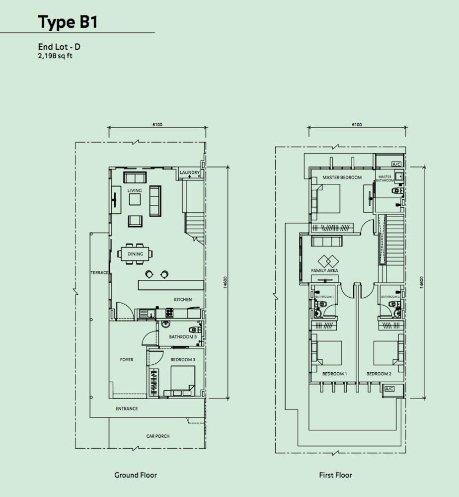 Elmina Valley Elmina Valley 2 Type B1 - End Lot D Floor Plan