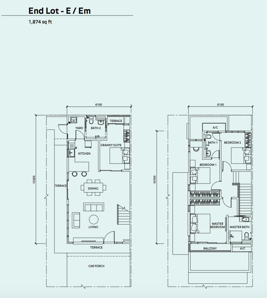 Elmina Valley Elmina Valley 3 Type A - End Lot Floor Plan