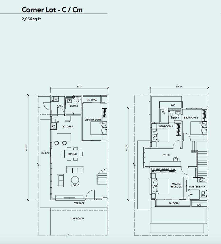 Elmina Valley Elmina Valley 3 Type A - Corner Floor Plan