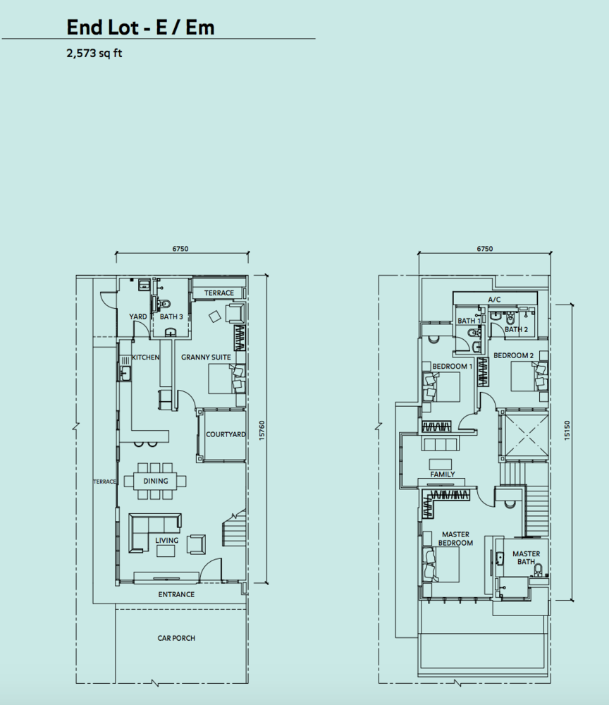 Elmina Valley Elmina Valley 3 Type B - End Lot Floor Plan