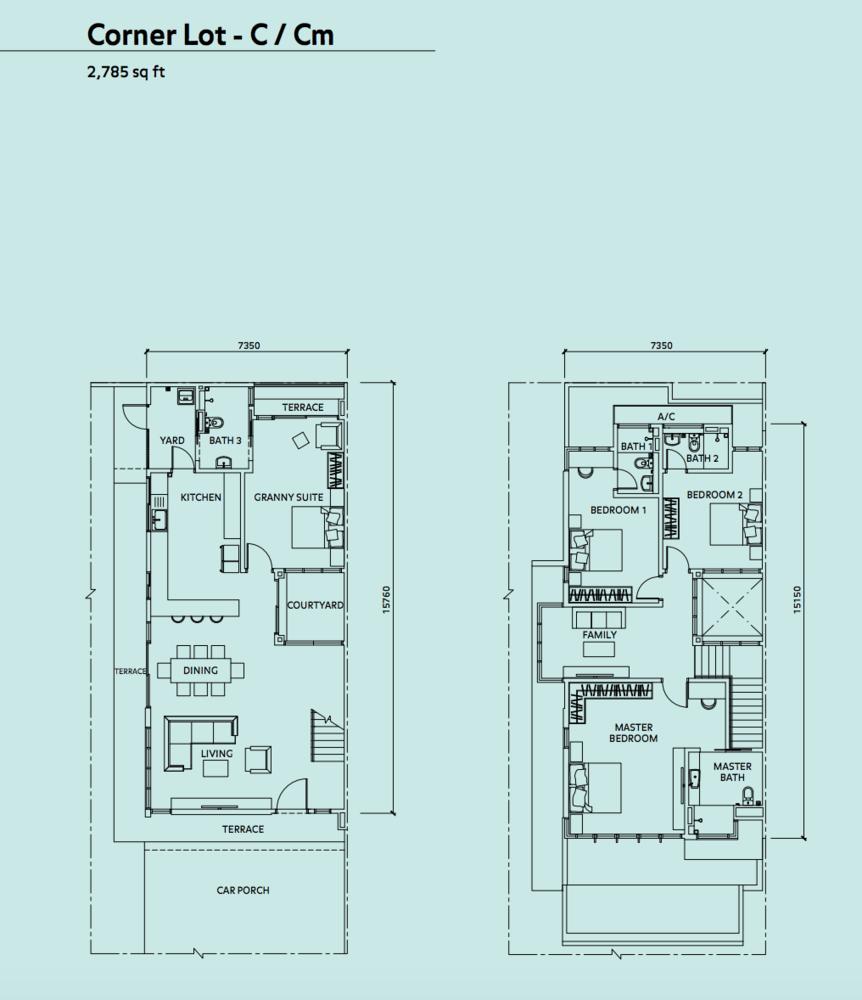 Elmina Valley Elmina Valley 3 Type B - Corner Floor Plan