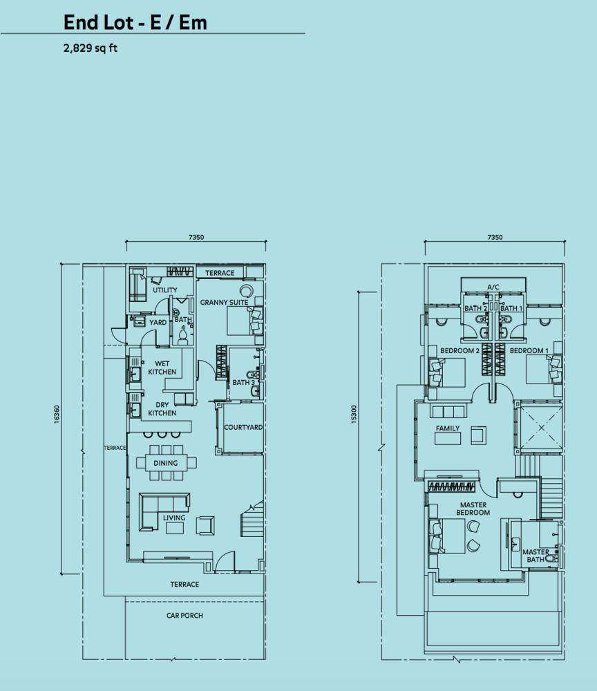 Elmina Valley Elmina Valley 3 Type C - End Lot Floor Plan