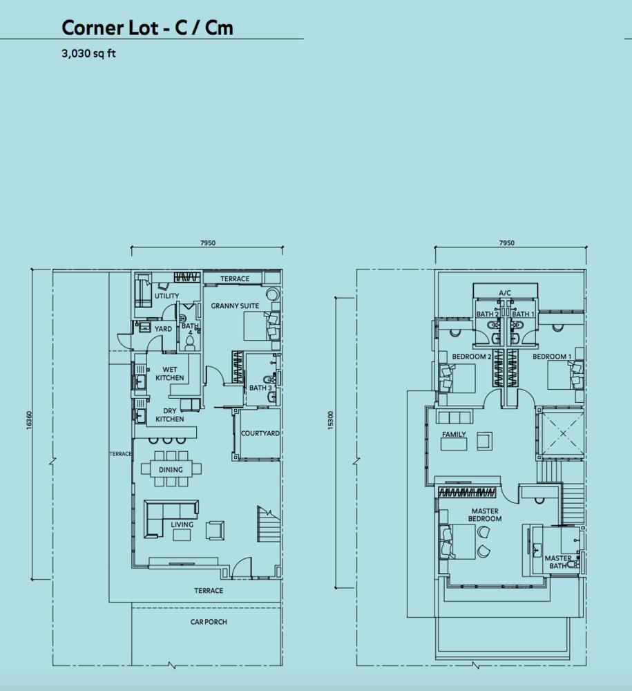 Elmina Valley Elmina Valley 3 Type C - Corner Floor Plan
