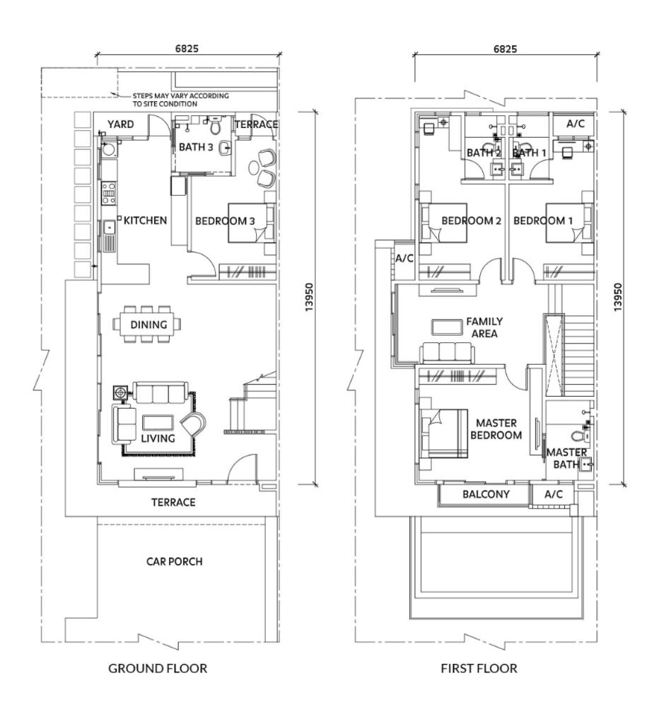 Elmina Valley Elmina Valley 4 Type A - End Lot  Floor Plan