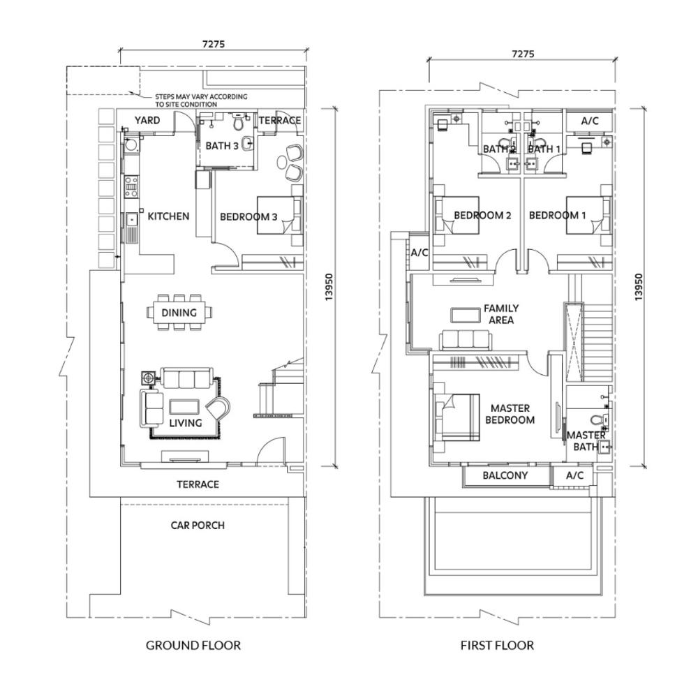 Elmina Valley Elmina Valley 4 Type A - Corner Floor Plan