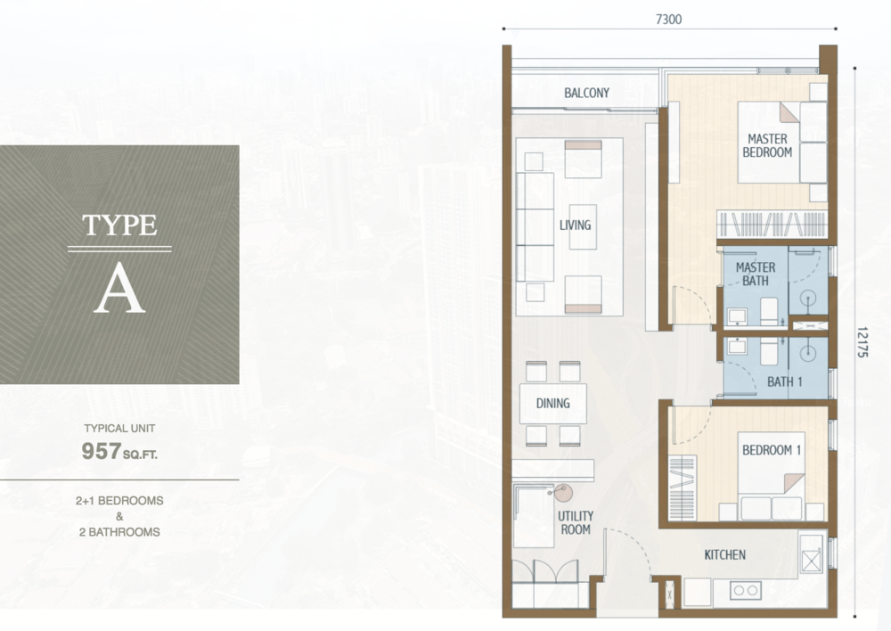 Duta Park Residences Type A Floor Plan