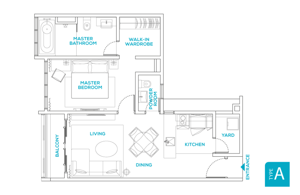 Avara Seputeh Type A Floor Plan