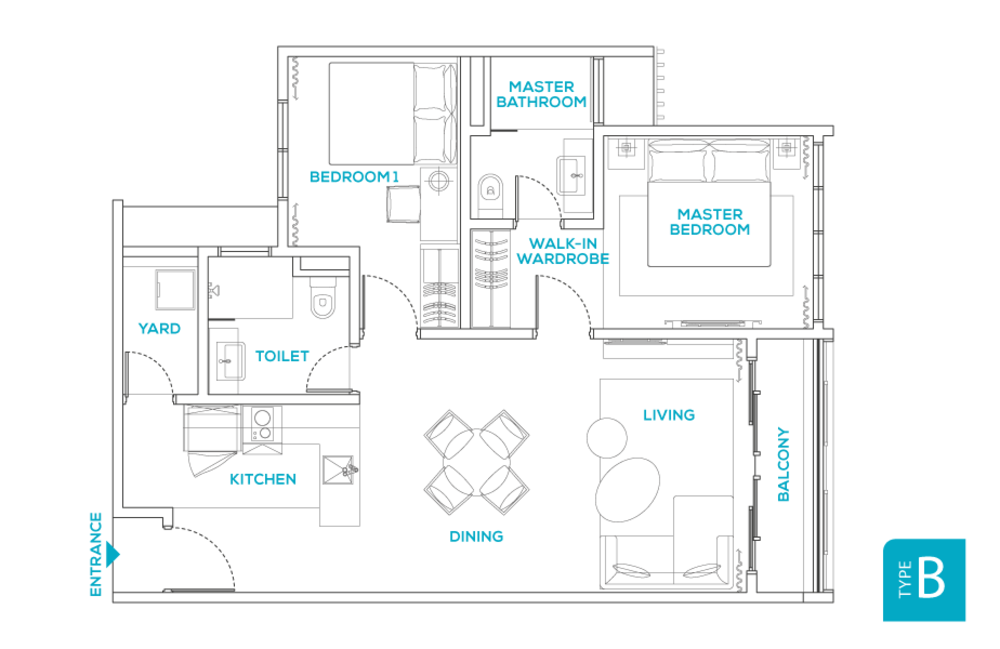 Avara Seputeh Type B Floor Plan