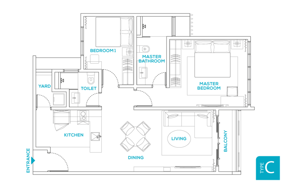 Avara Seputeh Type C Floor Plan
