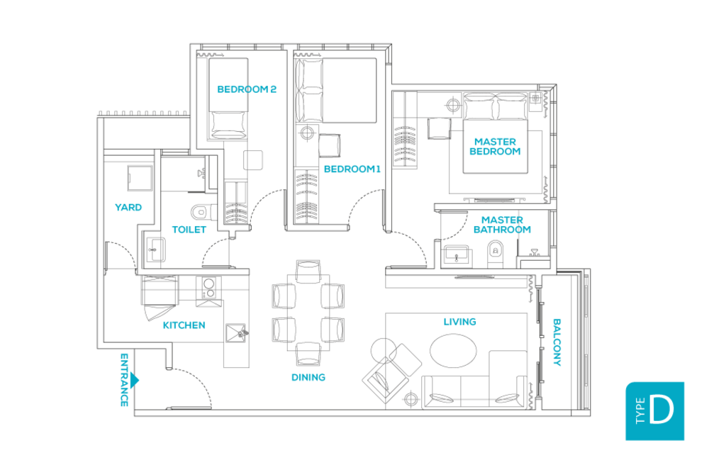 Avara Seputeh Type D Floor Plan