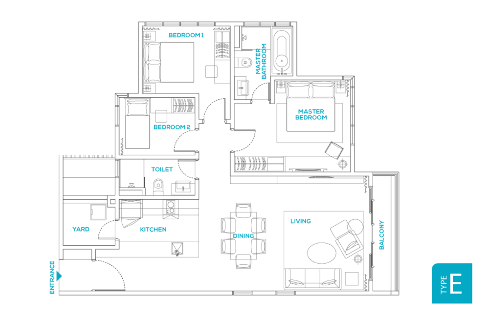 Avara Seputeh Type E Floor Plan