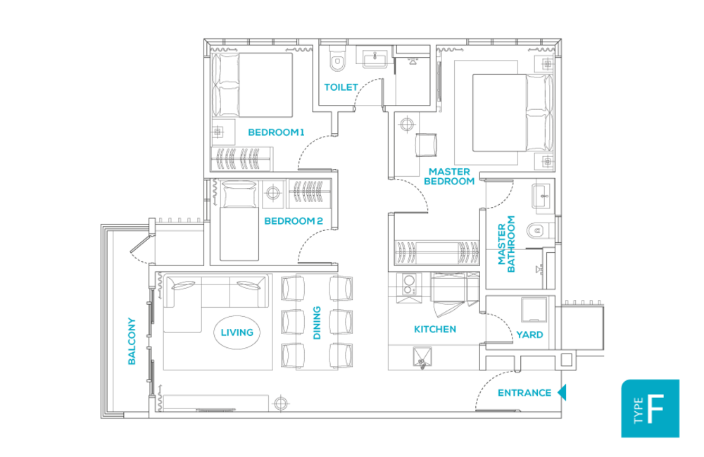 Avara Seputeh Type F Floor Plan