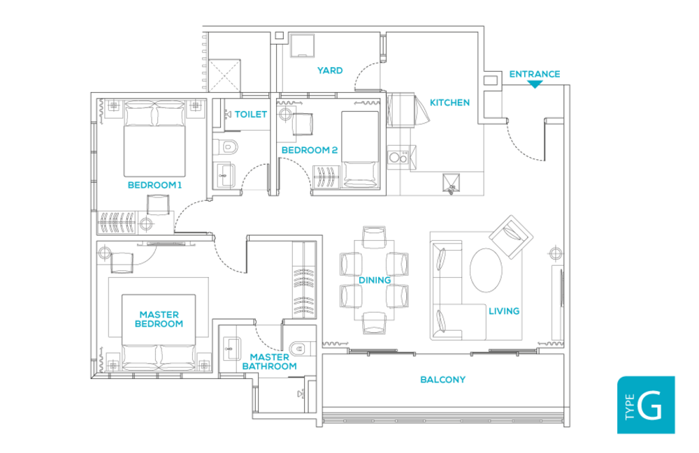 Avara Seputeh Type G Floor Plan