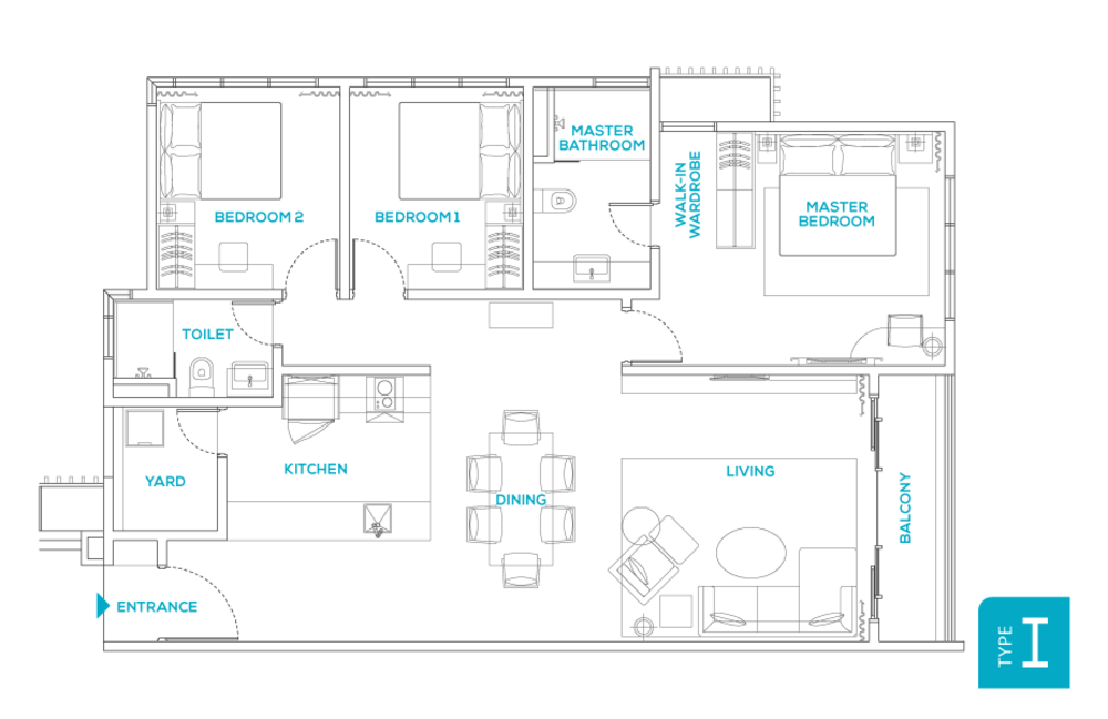 Avara Seputeh Type I Floor Plan
