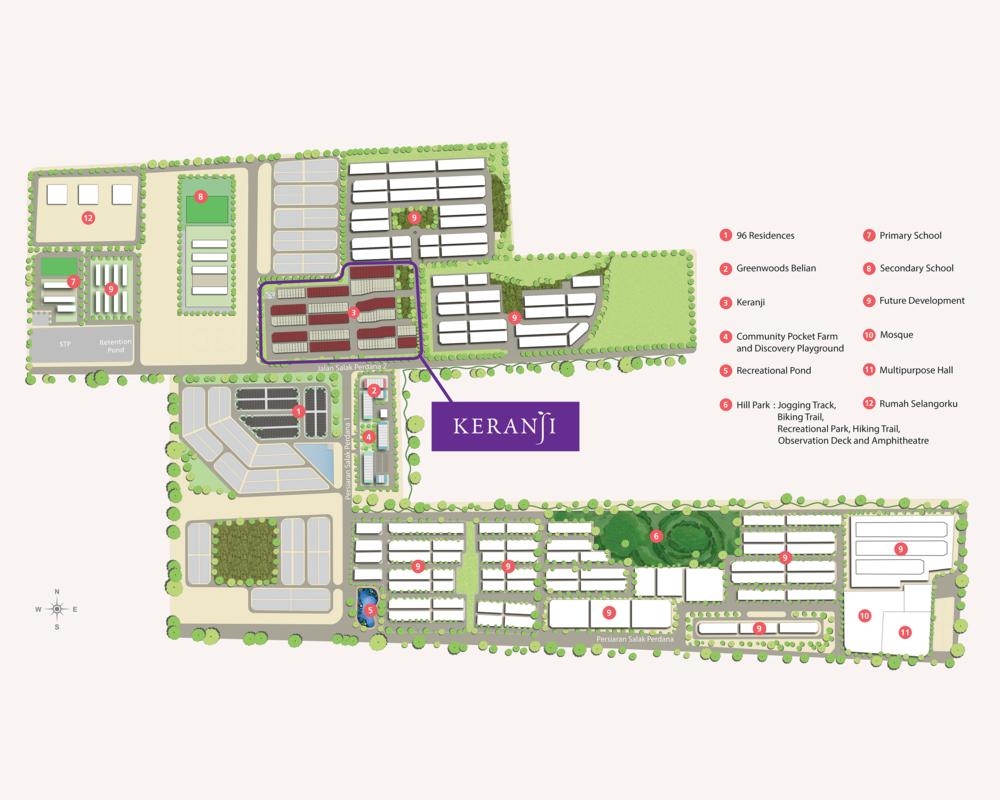 Master Plan of Keranji @ Greenwoods Salak Perdana