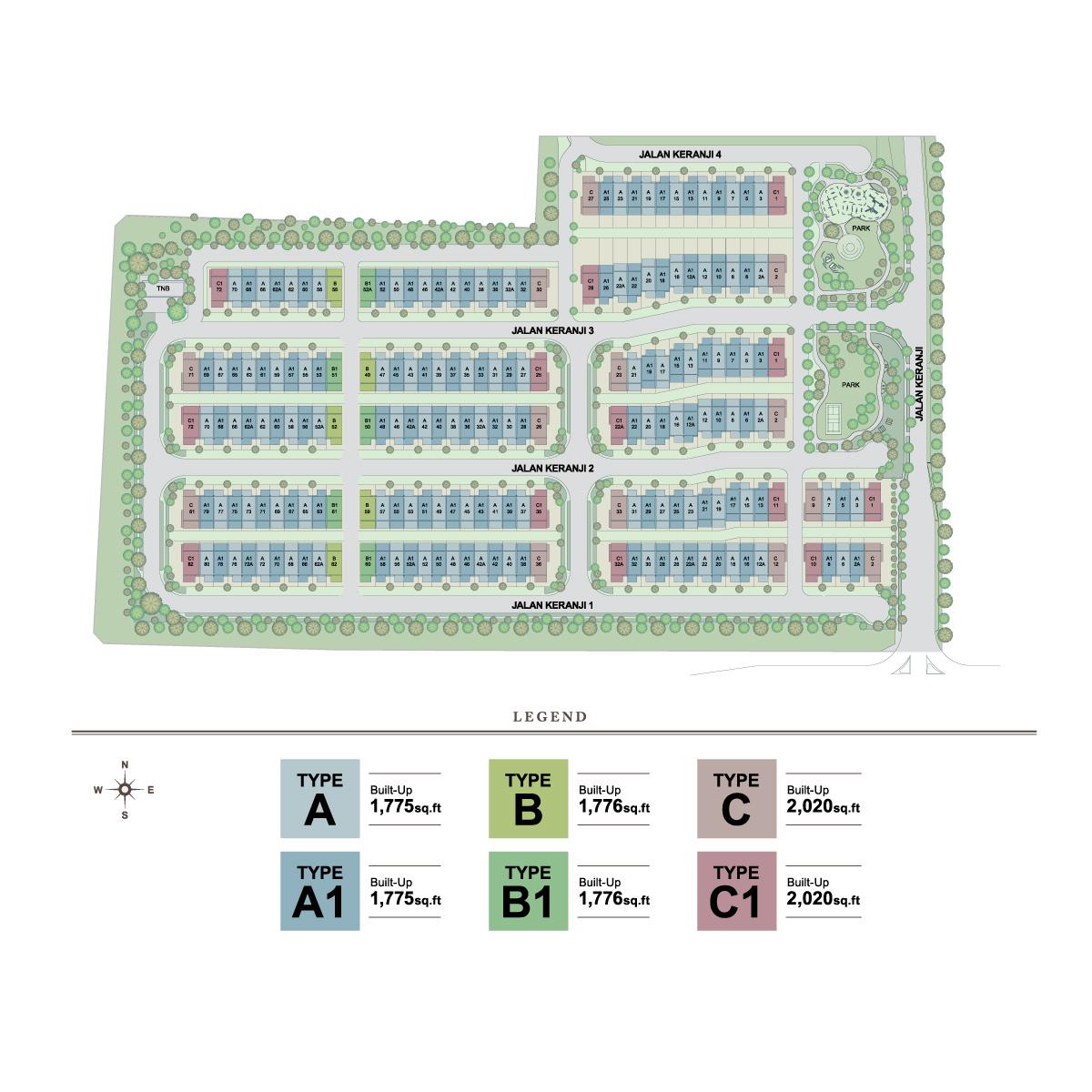 Site Plan of Keranji @ Greenwoods Salak Perdana