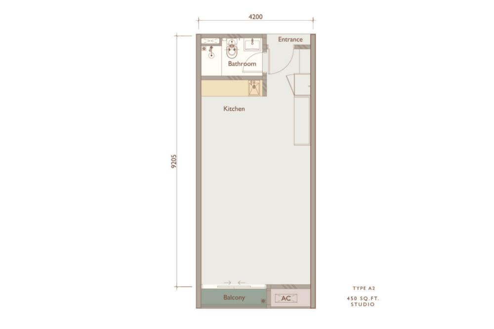 Chambers Kuala Lumpur Type A2 Floor Plan