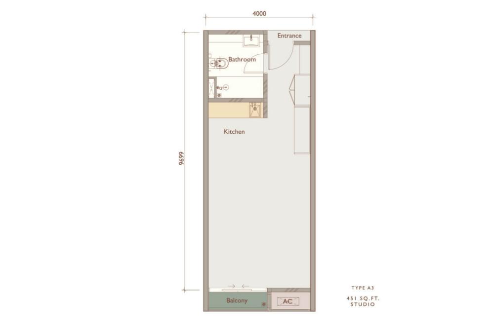 Chambers Kuala Lumpur Type A3 Floor Plan