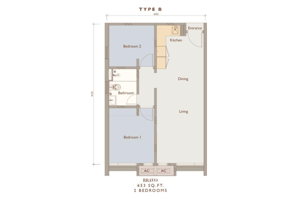Chambers Kuala Lumpur Type B Floor Plan