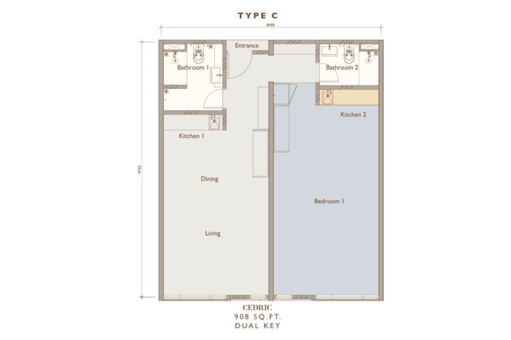 Chambers Kuala Lumpur Type C Floor Plan