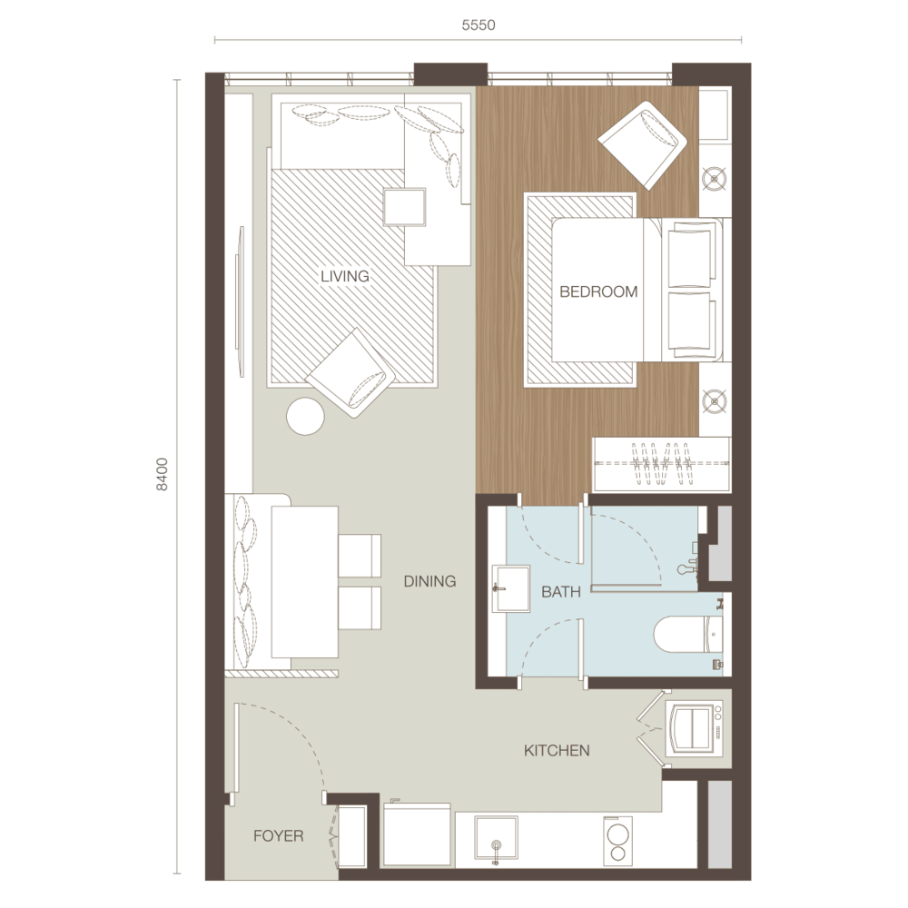 Ativo Suites Type A Floor Plan