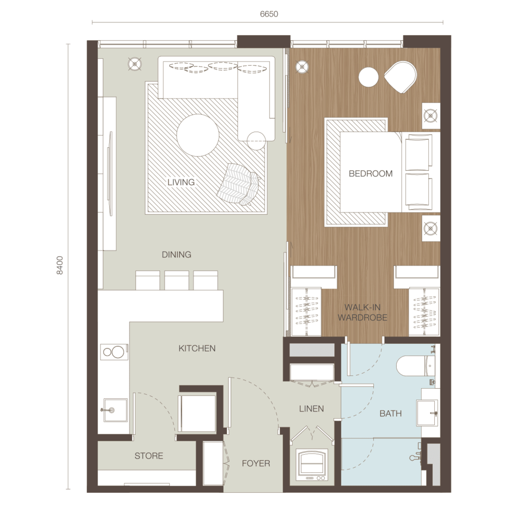 Ativo Suites Type B Floor Plan