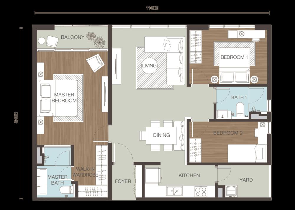 Ativo Suites Type D Floor Plan