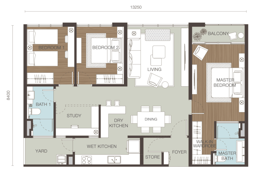 Ativo Suites Type E Floor Plan