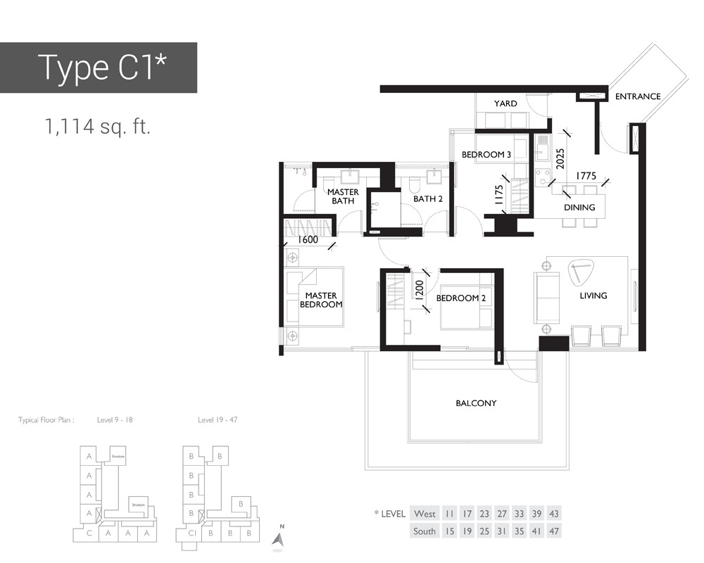 10 Stonor Type C1 Floor Plan