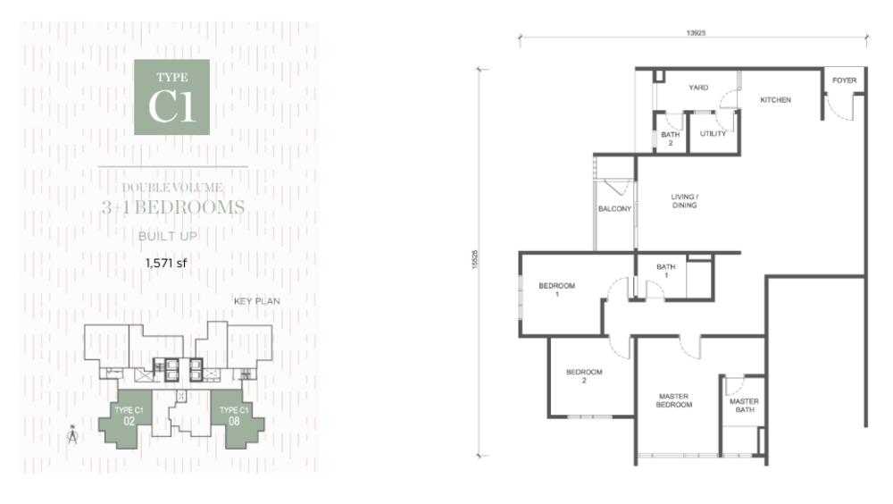 Damansara Seresta Type C1 Floor Plan