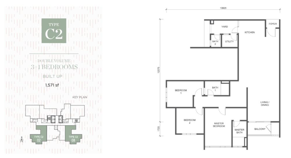 Damansara Seresta Type C2 Floor Plan