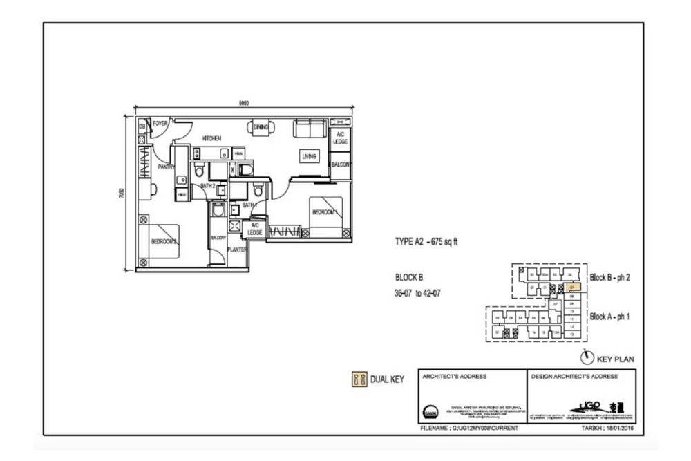 The Luxe by Infinitum Type A2 Floor Plan
