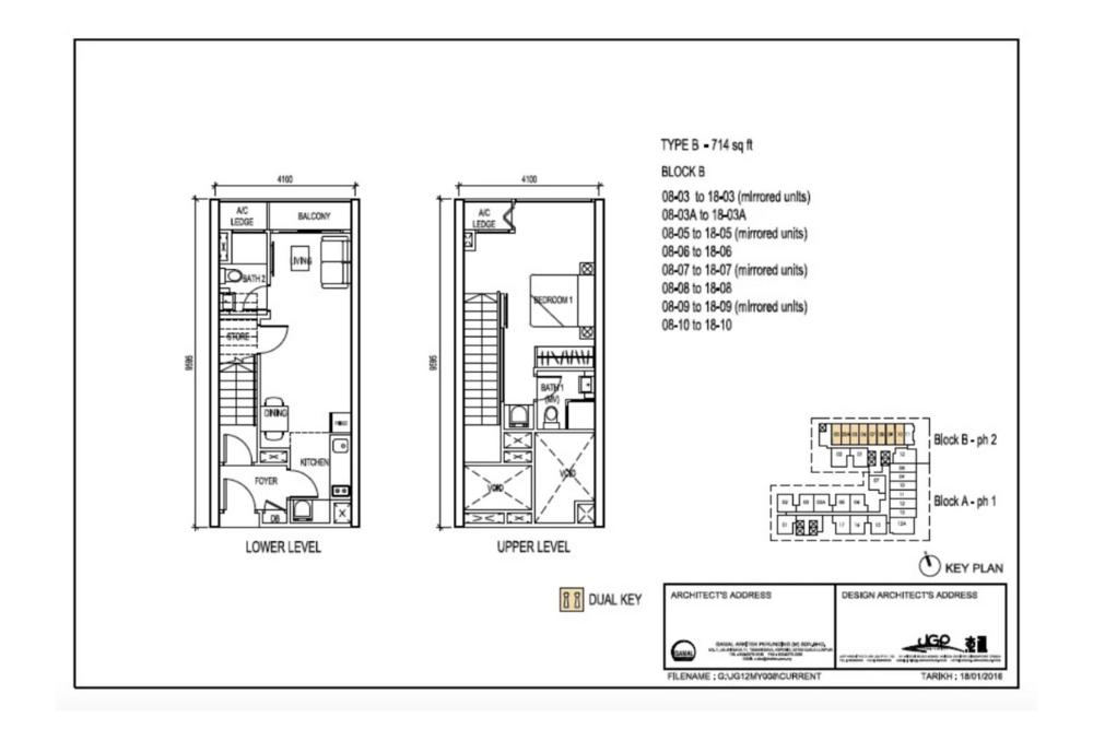 The Luxe by Infinitum Type B Floor Plan