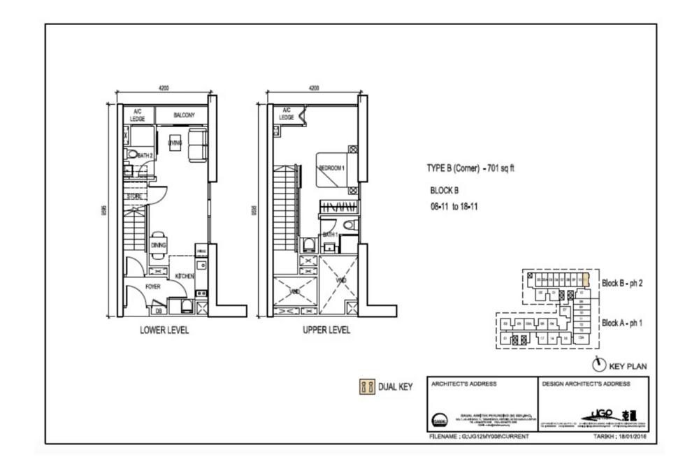 The Luxe by Infinitum Type B(C) Floor Plan