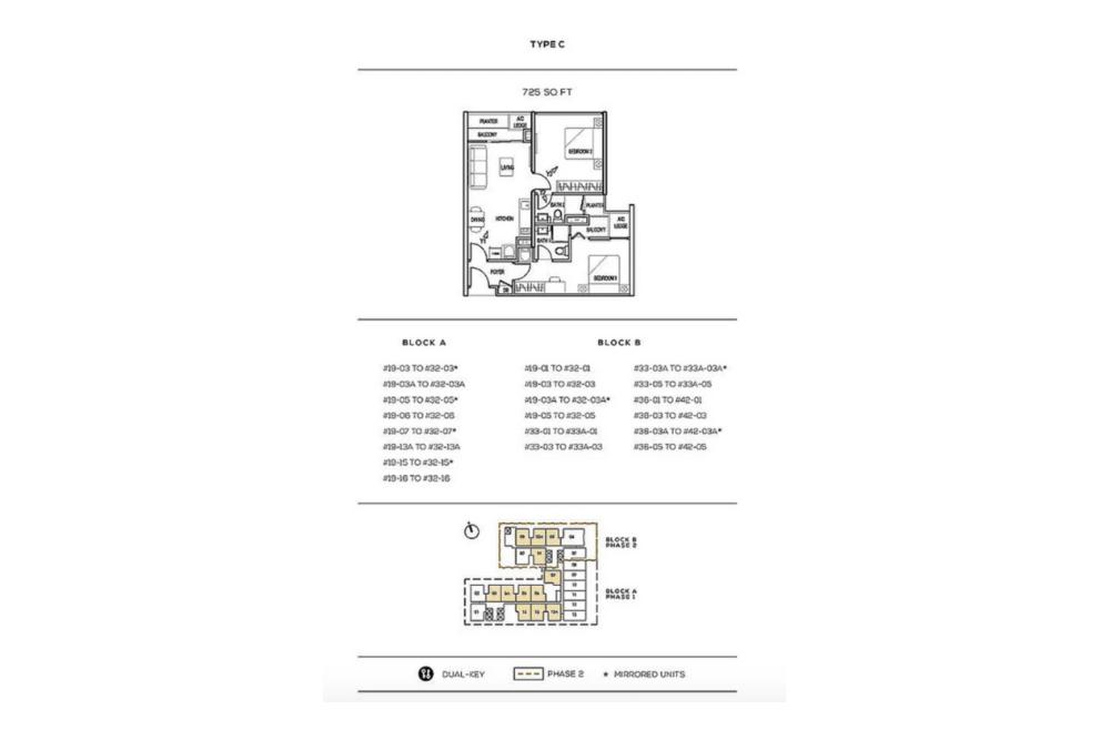 The Luxe by Infinitum Type C Floor Plan