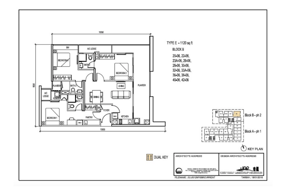 The Luxe by Infinitum Type E Floor Plan