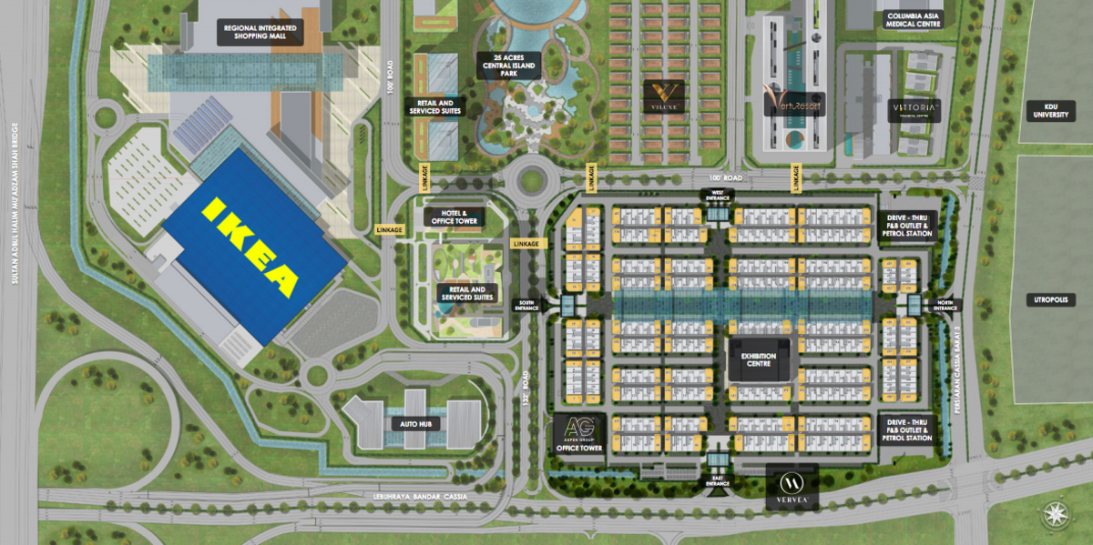Master Plan of Vervéa @ Aspen Vision City