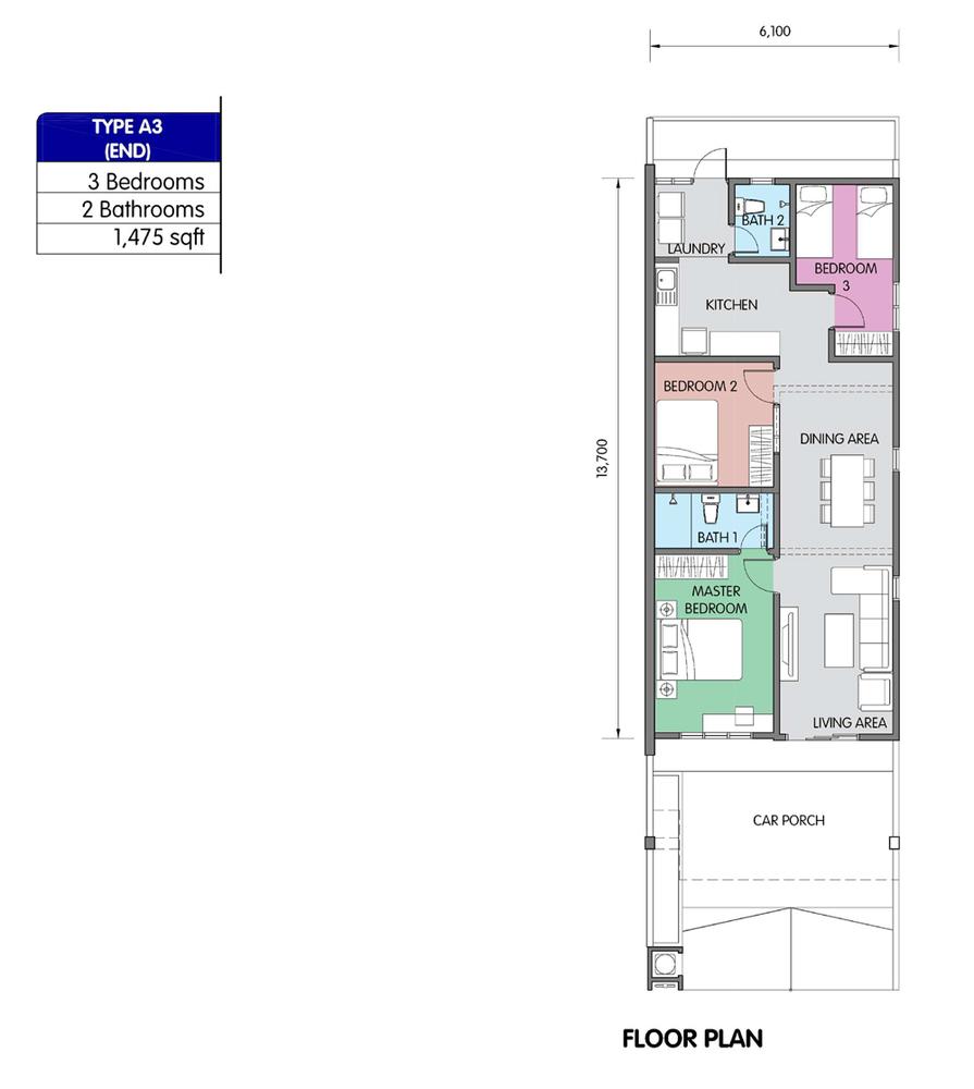 PR1MA Homes @ Simpang Empat 2 Type A3 Floor Plan