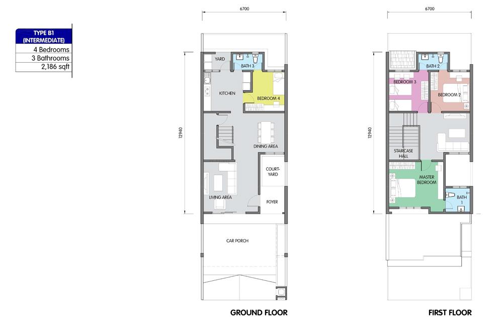 PR1MA Homes @ Simpang Empat 2 Type B1 Floor Plan
