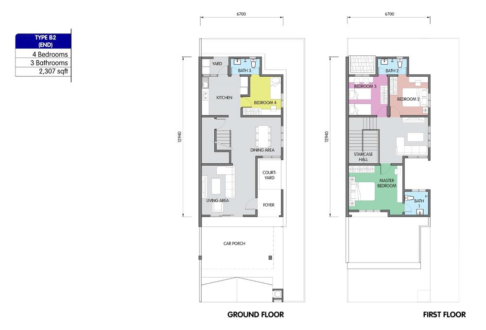 PR1MA Homes @ Simpang Empat 2 Type B2 Floor Plan